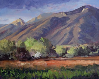 Springtime Evening - Taos - New Mexico - Original Oil Landscape Painting