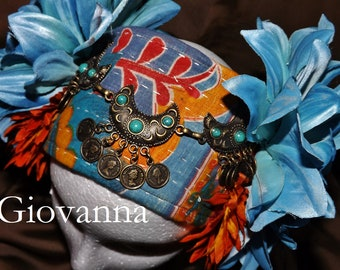 ATS Tribal Fusion Belly Dance Headpiece, Giovanna