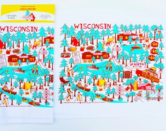 "Wisconsin ""Up North"" Kitchen Towel"
