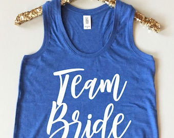 Team Bride Tank Top - Team Bride Tank for Women - Bachelorette Party Tank Tops - Bridal Party Tank Tops - Team Bride Tank