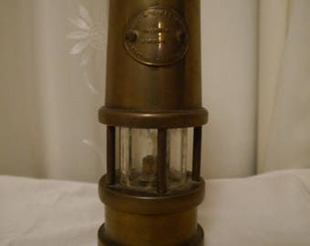 Small brass miners paraffin lamp by Hockley and limelight