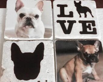 Custom Dog Breed Coasters - Set of 4