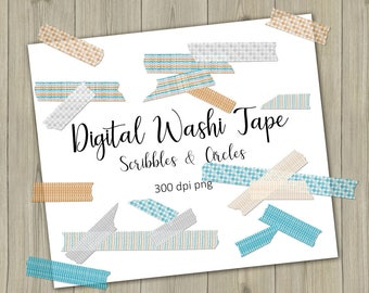 Digital Washi Tape washi tape clipart Orange washi tape download turquoise washi tape washi sticker scrapbook tape printable washi