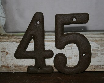 1 DIY House numbers/ address signs / mailbox numbers / street numbers / numericals  / wedding table numbers