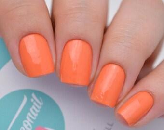 Brilliant Orange Nail Polish Wraps