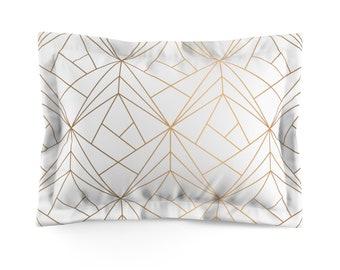 Gold Glam Microfiber Pillow Sham