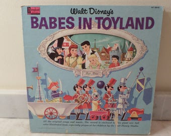 Vintage 1961 Vinyl LP Children's Record Babes In Toyland Walt Disney Disneyland Very Good Condition 14293