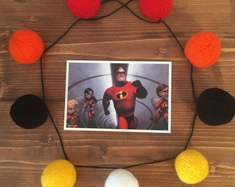 The Incredibles Knitted Bunting