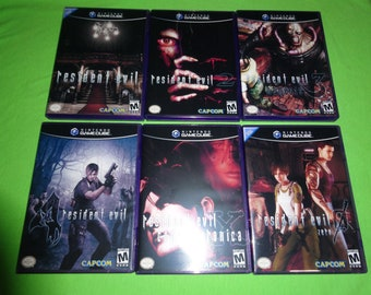 EMPTY REPLACEMENT CASES! Resident Evil 1 2 3 4 X Zero Nemesis Nintendo GameCube
