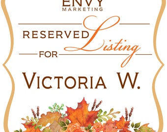 Falling in Love, Fall Wreath Wedding Invitations, Autumn Wedding Invitations, Rustic Leaf Wedding Invitation, Reserved for Victoria W.