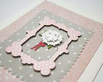 Wedding Card - Handmade Wedding Card - Anniversary Card - Congratulations Card - Flowers - Floral - Boquet - White Wedding - White Flowers