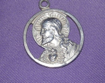 Jesus sterling silver religious charm