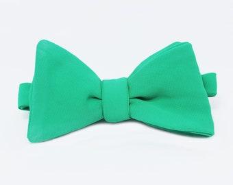 Cheeky Green Self Tie Bow Tie