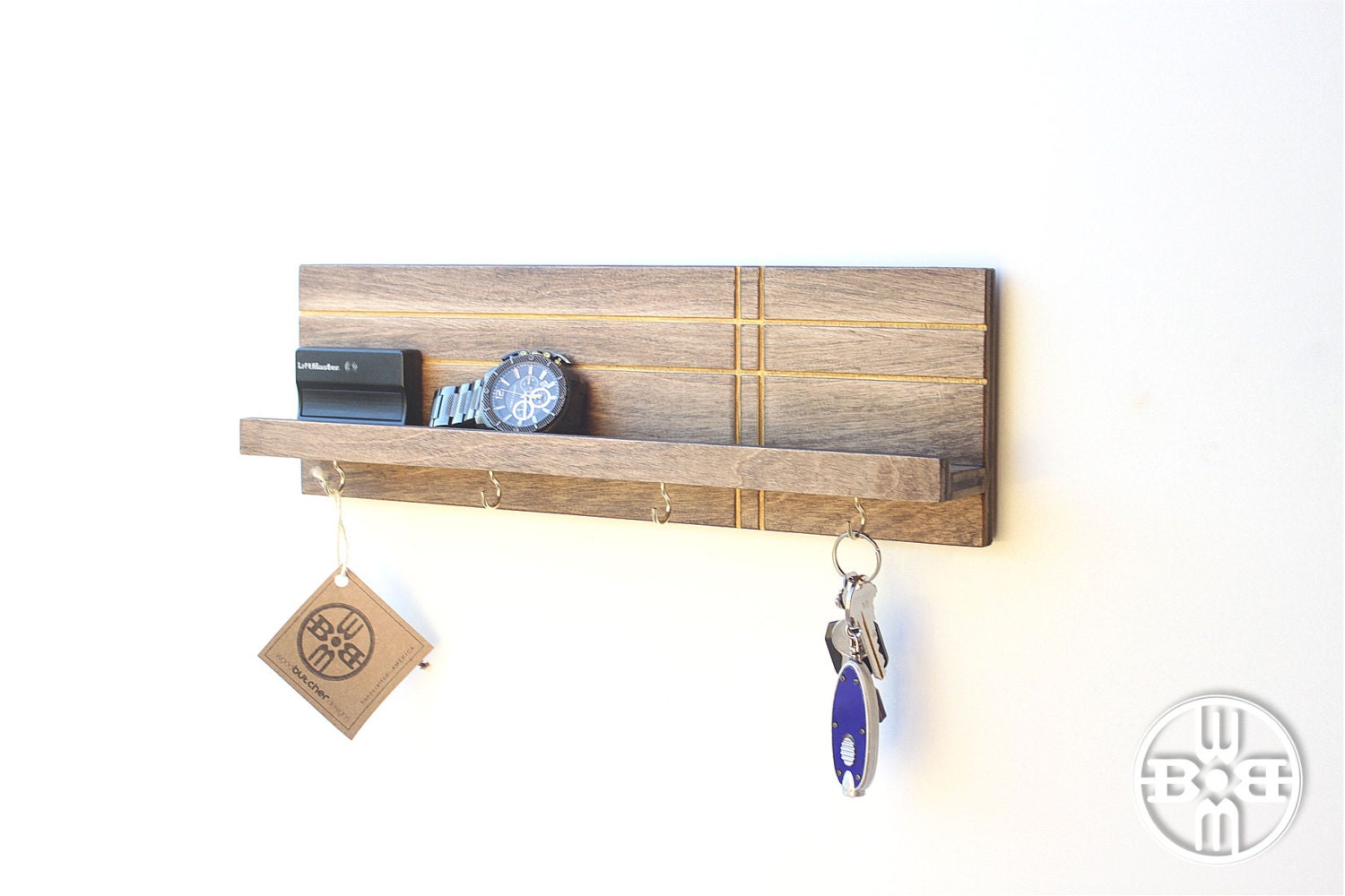 key holder for wall entryway organizer key rack gifts for. Black Bedroom Furniture Sets. Home Design Ideas