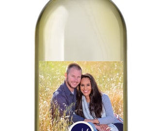 Photo Wedding Wine Labels • Personalized Wedding Wine Label