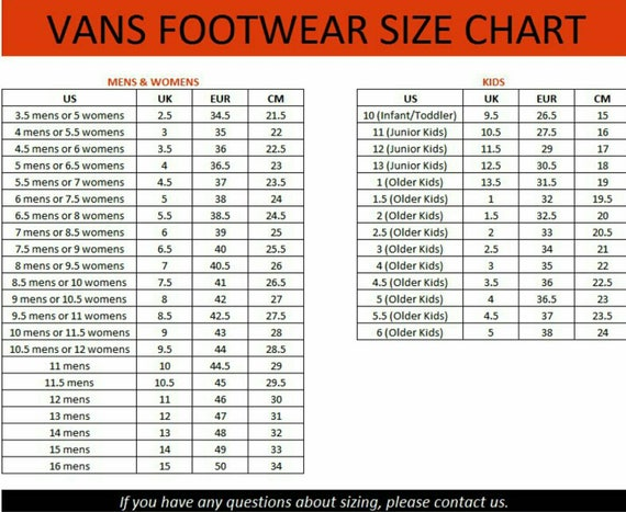 etiqueta una vez cocinero  buy > vans little kid size chart, Up to 64% OFF