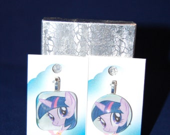 My Little Pony Mane 6 Inspired Glass Charm