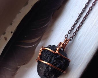 Tektite Jewelry - Tektite Necklace - Tektite Pendant - Joey Badass - Natural Copper Crystal Pendant - Space Necklace Men - Alien Necklace