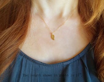 Delicate leaf necklace Dainty leaf necklace Simple necklace September necklace Charm necklace