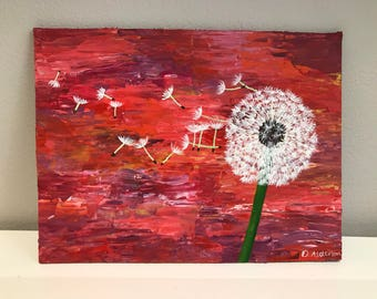 Small Dandelion Acrylic Painting