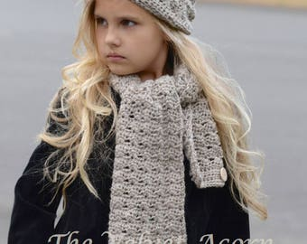 CROCHET PATTERN-The Fosleigh Set (toddler, child and adult sizes)