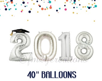 2018 GRADUATION Balloons | GRADUATION BALLOONS | Graduation Party Decorations | Class of 2018 | Graduation Photos | 2018 Balloon Banner
