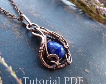 Tutorial jewelry DIY project - Briolette pendant without soldering - Wire wrapped necklace tutorial