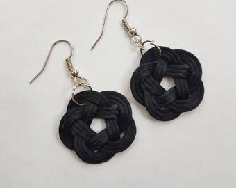 Plum Knot Earrings