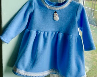 18 mo Snowman Fleece Dress
