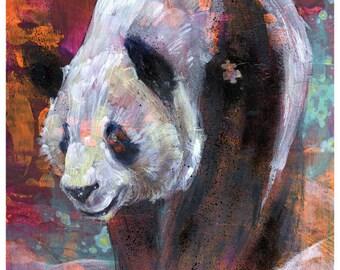 Panda Art Print - Panda Wall Art - Panda Poster - Wall Decor