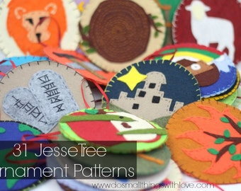 31 Jesse Tree Ornament Patterns // Templates for Jesse Tree Advent Calendars // Felt Ornament Pattern