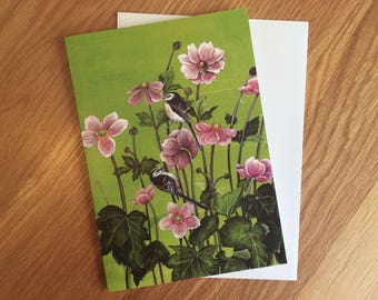 Colourful greeting card 'Japanese Anemones' *NEW LISTING*