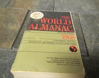 1968 The WORLD ALMANAC and Book of Facts * Published by New York World-Telegram