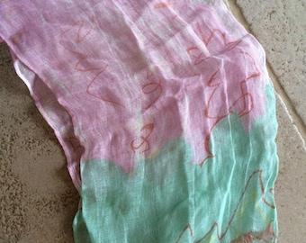 Pretty Pink and Mint Green Georgina von Etzdorf Scarf