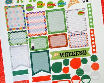 Weekly Planner Sticker Set Mutant Turtles