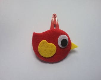 """Zazou"" Bird Collection felt hair clip"