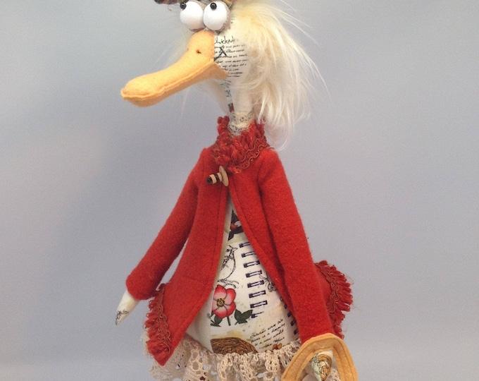 JM959E - Daphne Duck,  PDF Cloth Animal/Bird Doll Making Sewing Pattern