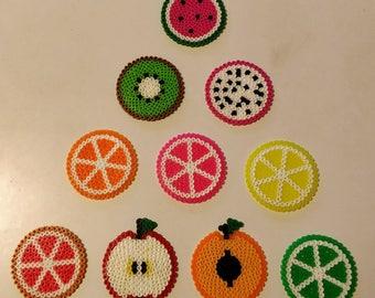 Fruit Coasters Perler Beads
