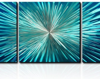 Modern Abstract Painting Metal Wall Art Sculpture Explosion