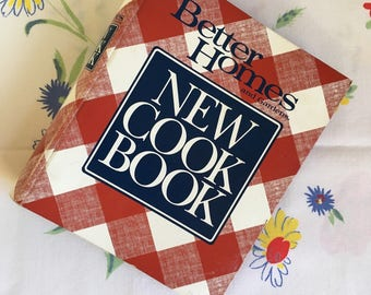 Better Homes and Gardens New Cook Book 1989 10th Ring-Bound Edition Second Printing, Vintage Red and White Cook Book, Collectible Usable