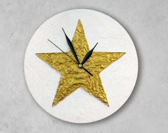 Texas STAR WALL CLOCK, Gold Star home decor, Christmas decor, christmas star