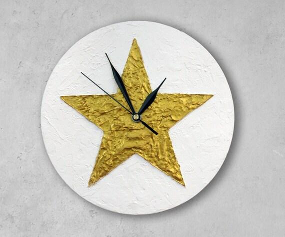 Gold Star Wall Decor: Texas STAR WALL CLOCK Gold Star Home Decor Christmas Decor
