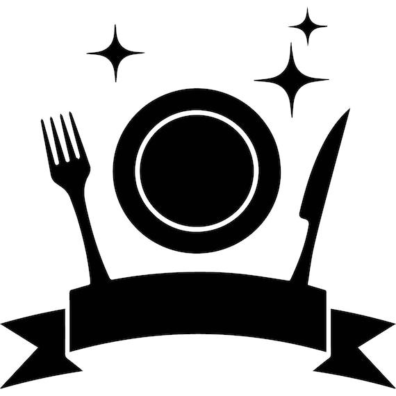 Cocina placa logo negocio restaurante cafeteria los alimentos for Comedor logo