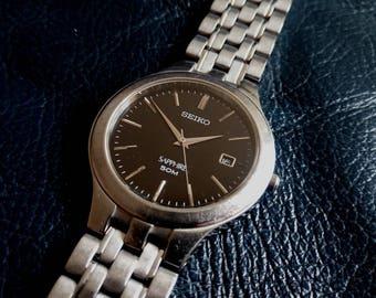 SEIKO SAPHIRE QUARTZ Unisex Wrist Watch, Vintage 1990's Seiko Saphire Quartz Unisex Wristwatch, Seiko Saphire Japan Wrist Watch, SeikoJapan