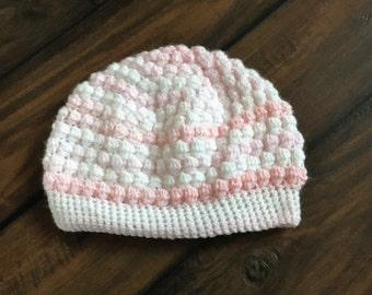 girls puff stitch hat