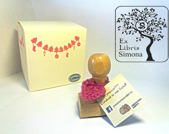 Ex libris STAMP with shaft + CUSTOM NAME