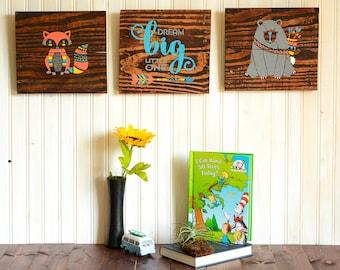 Nursery Decor | Nursery Wall Art | Nursery Wall Decor | Woodland Nursery | Woodland Animals | Woodland Nursery Decor