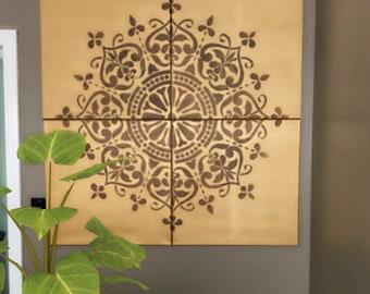 Mandala Wall Canvas Set- You Pick Any 2 Colors