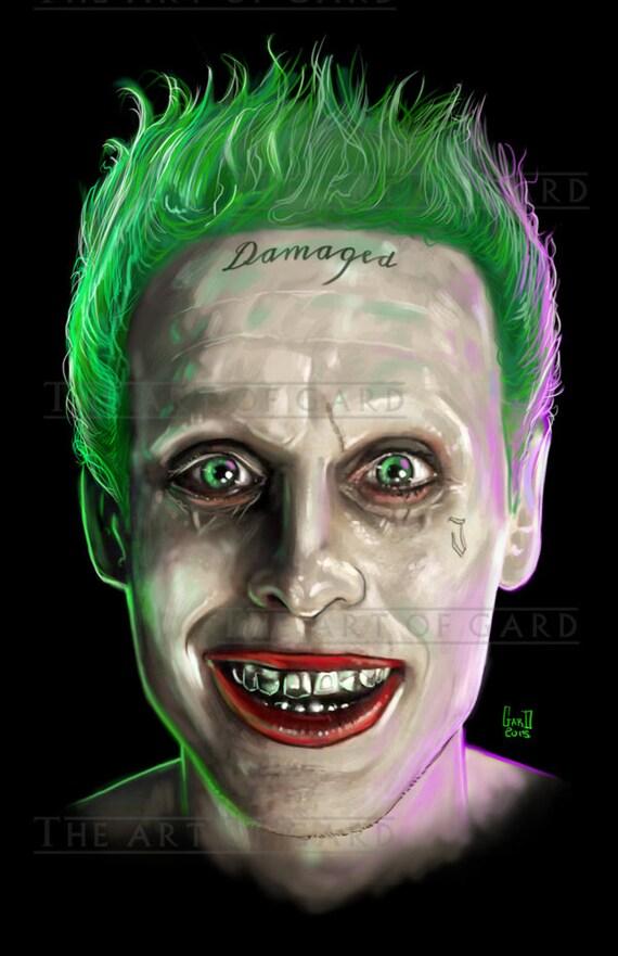 Jared Leto as The Joker Portrait  (Suicide Squad) 11X17 print