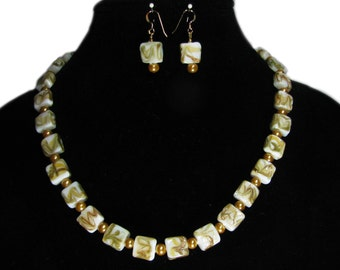Exquisite Murano Glass Hand Crafted Artisan Beaded Necklace and Earring Set By SoniaMcD